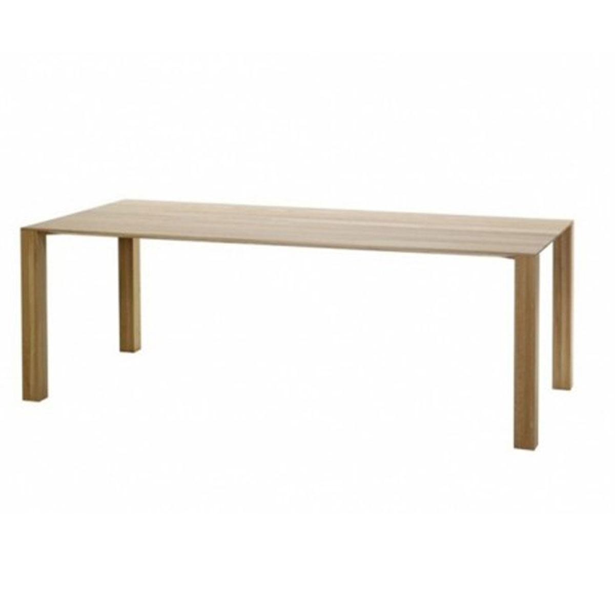 Massief eiken tafels van evolution squat tafel design for Houten eettafel design