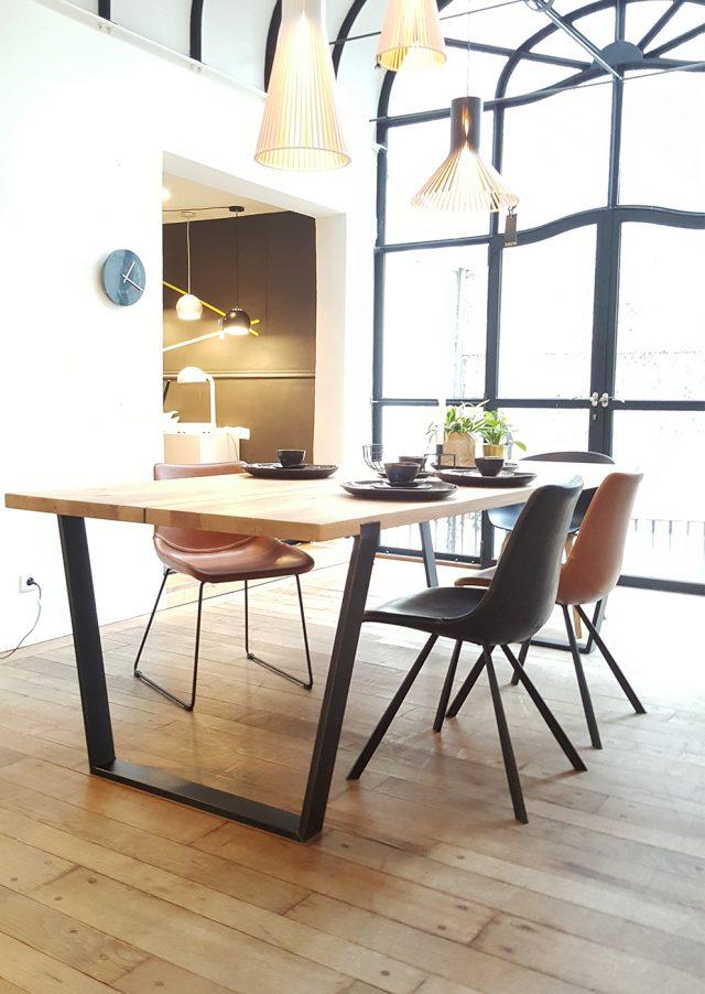 Design tafels: massief eiken tafel