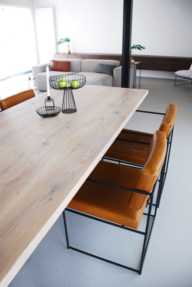 lederen stoelen project evolution design meubelen