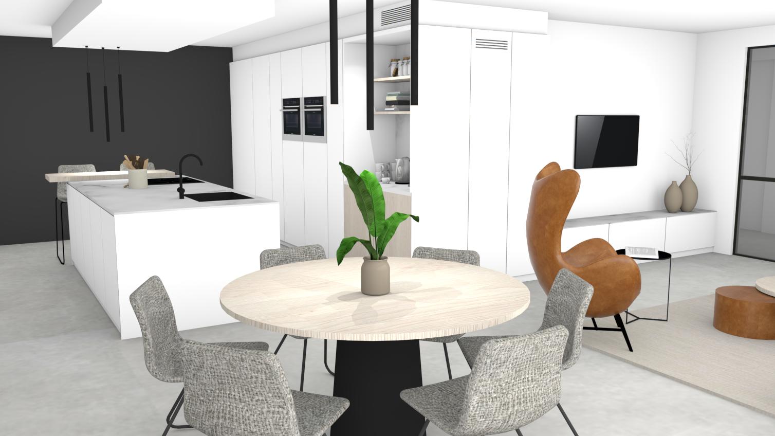 Evolution-interieurwinkel-hasselt-interieur-meubelen-design-3D-visualisatie-eetkamer-eettafel-familie-b