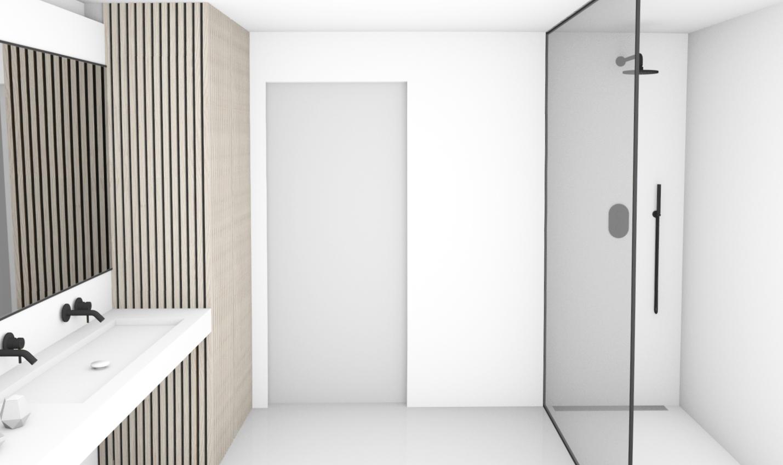 Evolution-interieur-hasselt-familie-d-badkamer-totaalinrichting-3D-visualisatie-douche-lavabo-zwart-wit
