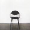 Evolution-hasselt-interieurwinkel-meubelen-design-stoelen-stof-pineapple-chair-vooraanzicht-zwart